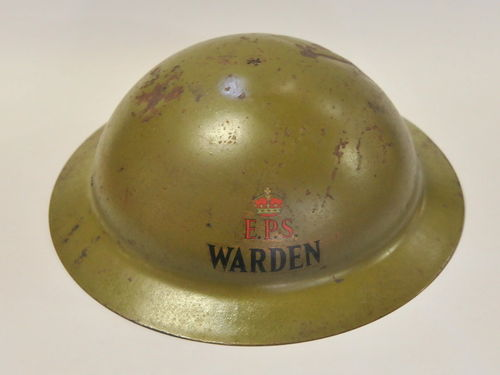 Warden Helmet | Period: WW2 | Make: Department of the Army | Material: Steel with fabric liner