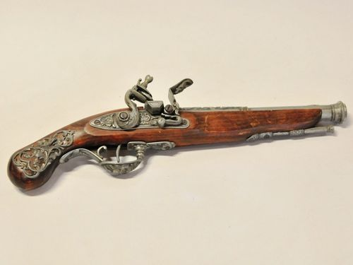 Reproduction Flintlock Pistol | Period: c1990 | Material: Iron and timber