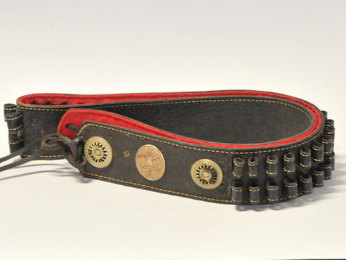 Bullet Belt | Period: 1980s | Material: Leather