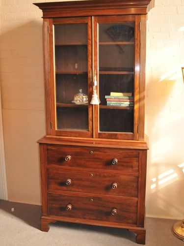 Victorian Bookcase | Period: Early Victorian c1850 | Material: Mahogany