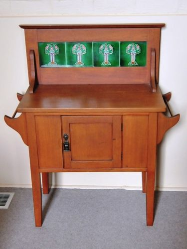 Tiled Back Washstand | Period: c1930 | Material: Silky Oak