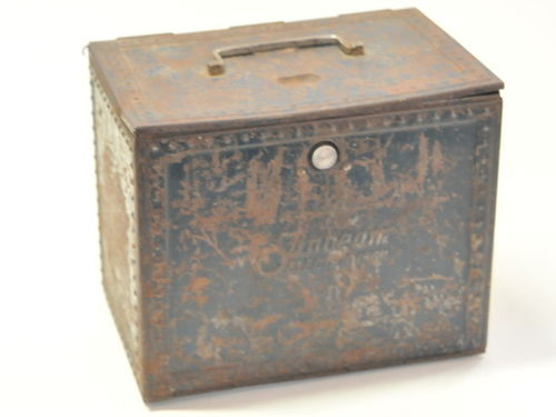 Sunbeam Iron Box | Period: c1930 | Material: Tin