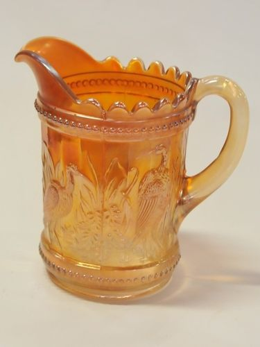 Carnival Glass Jug | Period: c1930 | Material: Carnival glass