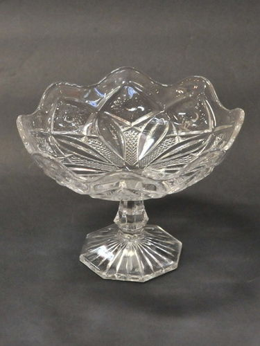 Depression Glass Compote | Period: c1930 | Make: Crown Crystal Glass Coy. | Material: Glass