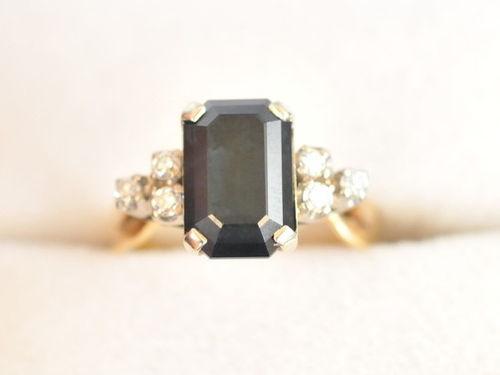 Sapphire & Diamond Ring | Period: c1960 | Material: 18ct gold, sapphire & diamond