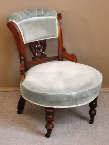Bedroom Chair | Period: Victorian | Material: Walnut
