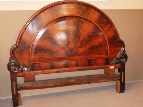 Mahogany Bed Head   Period: Victorian c1870   Material: Mahogany