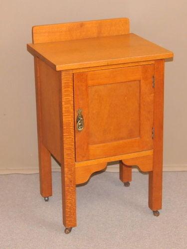 Silky Oak Bedside Cabinet | Period: c1930 | Material: Silky Oak