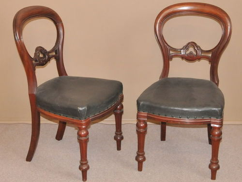 Set of 10 Balloon Back Chairs | Period: Victorian c1890 | Material: Mahogany