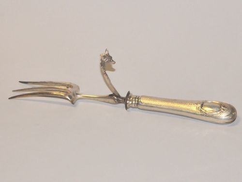 Silver Carving Fork | Period: C1880 | Material: .800 silver