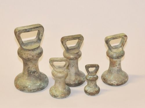 Scale Weights | Period: Edwardian | Material: Brass