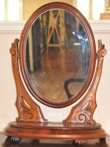 Toilet Mirror | Period: Victorian c1880 | Material: Mahogany