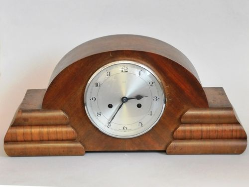 Chiming Mantle Clock | Period: c1950 | Make: Enfield | Material: Timber veneer