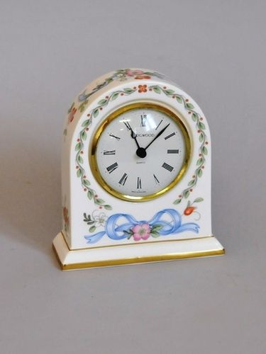Wedgwood Bedside Clock | Period: 1980s | Material: Porcelain