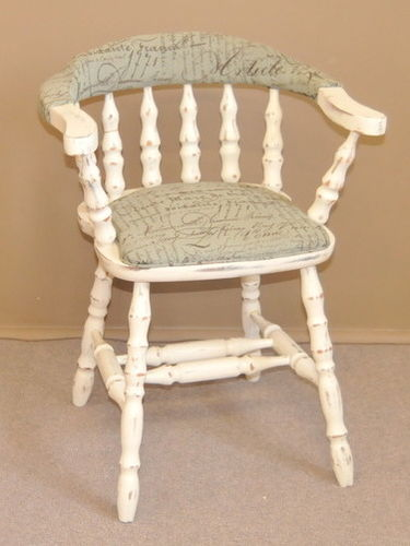 Attrayant Captainu0027s Chair | Period: Retro C1970 | Material: White Painted Timber