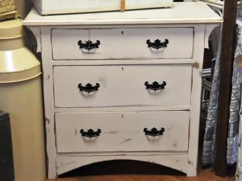 Chest of Drawers | Period: Art Noveau | Material: White painted pine