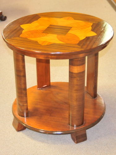 Inlaid Occasional Table | Period: Art Deco | Material: Various timbers
