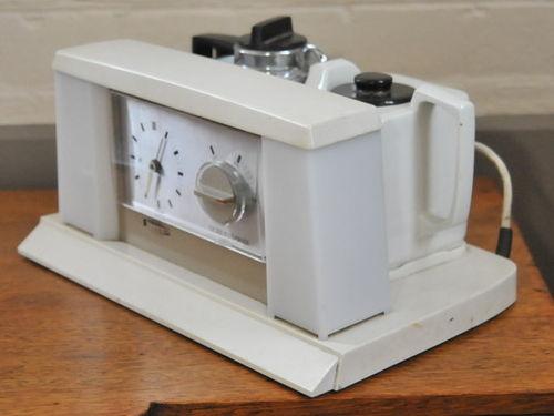 Automatic Tea Maker | Period: Retro c1960 | Make: Goblin 'Teasmade' | Material: Porcelain and plastic