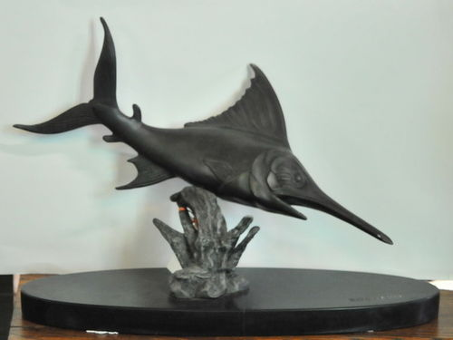 Swordfish Bronze | Period: c1935 | Make: Rochard | Material: Bronze on marble base