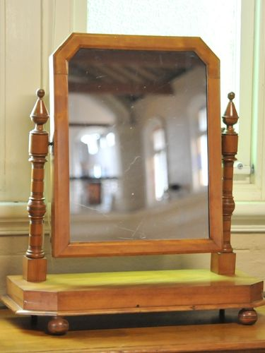 Toilet Mirror | Period: Edwardian c1910 | Material: Beech
