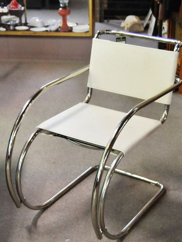 Retro Chair | Period: Retro c1970 | Material: Stainless steel and leather