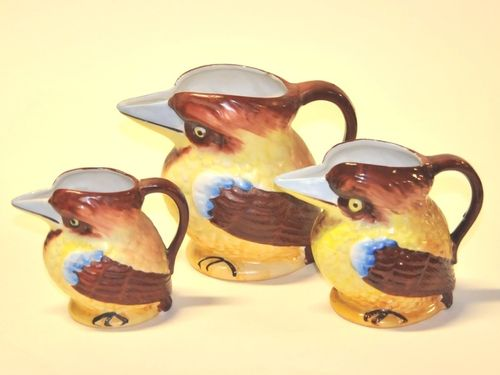 Kookaburra Jugs Set | Period: c1935 | Material: Porcelain