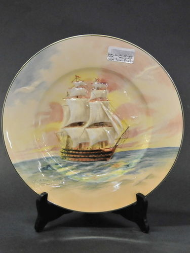 HMS Victory Cabinet Plate | Period: c1940 | Make: Royal Doulton | Material: Porcelain