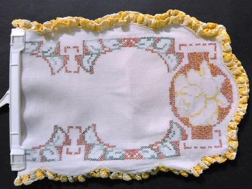 Embroided Runner | Period: c1950 | Material: Linen