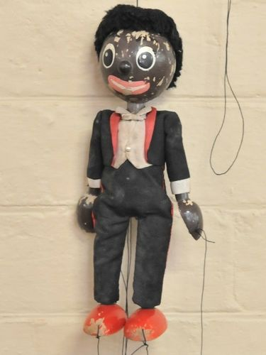 Golliwog Puppet | Period: c1930s | Material: Wood