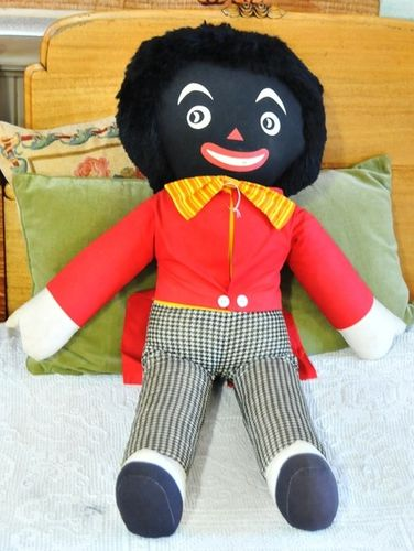 Rare Golliwog | Period: 1950s | Make: Joy Toys | Material: Fabric