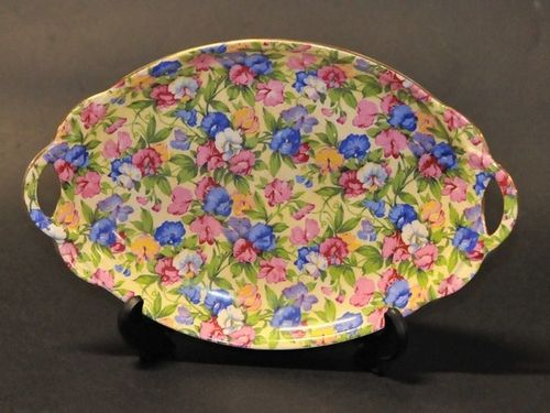 Sweet Pea Dish | Period: c1930s | Make: Royal Winton | Material: Porcelain