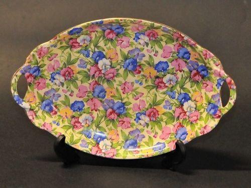 Sweet Pea Dish | Period: c1930s | Make: Royal Winton | Material: Porcelain