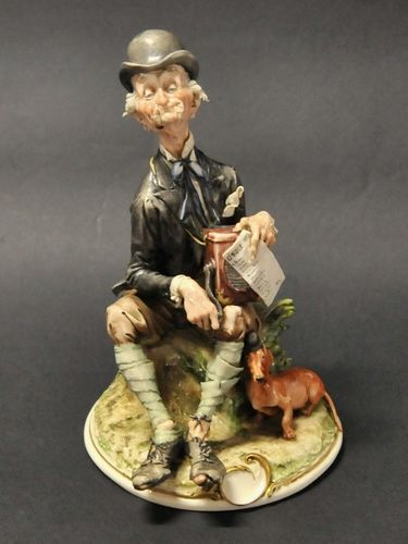 O Sole Mio Figure | Period: c1950s | Make: Capodimonte | Material: Porcelain