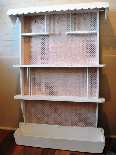 Planter Shelf | Period: Retro c1970 | Material: Timber and peg board