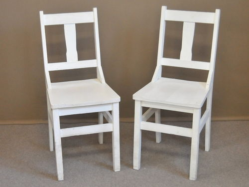 Set 6 Kitchen Chairs | Period: c1935 | Material: White painted pine