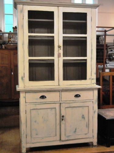 Pine Kitchen Dresser | Period: Edwardian c1910 | Material: Cream painted pine.
