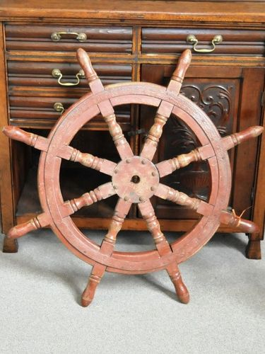 Ship's Wheel | Period: Edwardian c1910 | Material: Timber