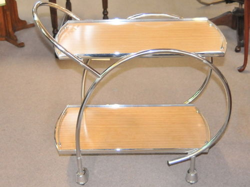 Auto Trolley   Period: Art Deco   Material: Chrome and laminex