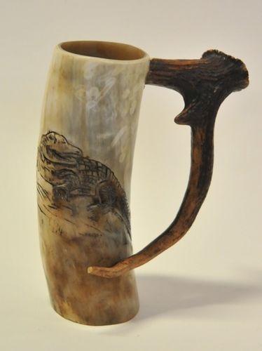 Horn Mug | Period: Vintage | Material: Horn and antler