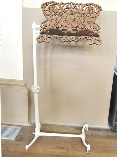 Victorian Music Stand | Period: Victorian c1870 | Material: Cast iron and fretworked walnut.