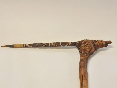 Ceremonial Adze | Period: Pre Independence | Material: Wood and rattan