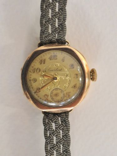 Ladies Wrist Watch | Period: c1930s | Make: Cortebert | Material: 9ct gold