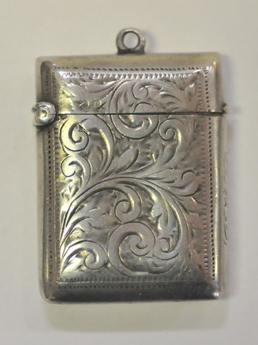 Vesta Case | Period: Victorian 1898 | Make: Chester | Material: Sterling Silver