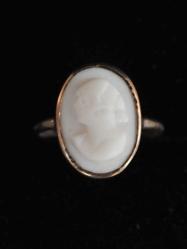 Cameo Ring | Period: Edwardian c1910 | Material: Cameo and 9ct gold.