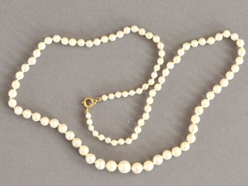 Pearl Necklace | Period: c1950s | Material: Natural cultured pearls.