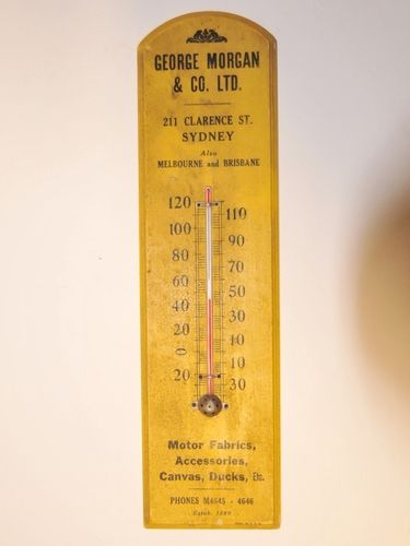 Advertising Thermometer | Period: c1920s | Material: Timber and glass