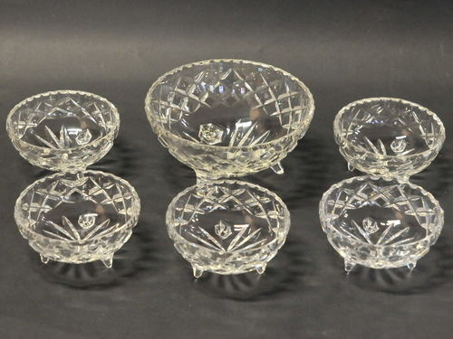 Crystal Bowl Set | Period: c1930s | Material: Cut crystal