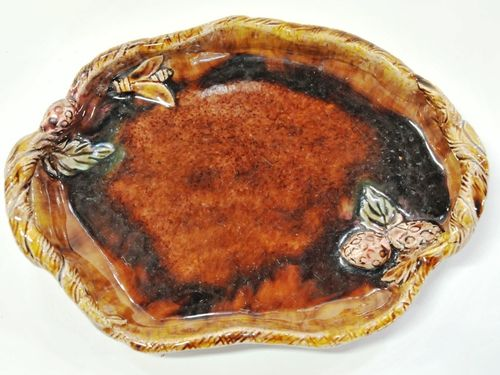 Harvey School Tray | Period: 1940 | Make: HML Harvey School | Material: Glazed Pottery