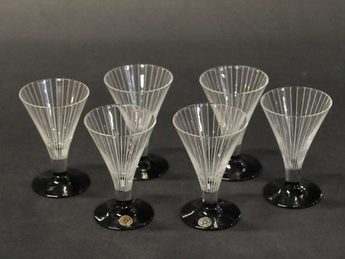 Set 6 Art Deco Glasses | Period: Art Deco c1920s | Material: Glass