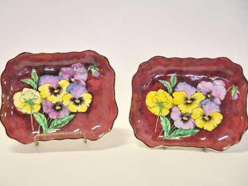 Royal Doulton Pansy Bowls | Period: c1950s | Make: Royal Doulton | Material: Porcelain